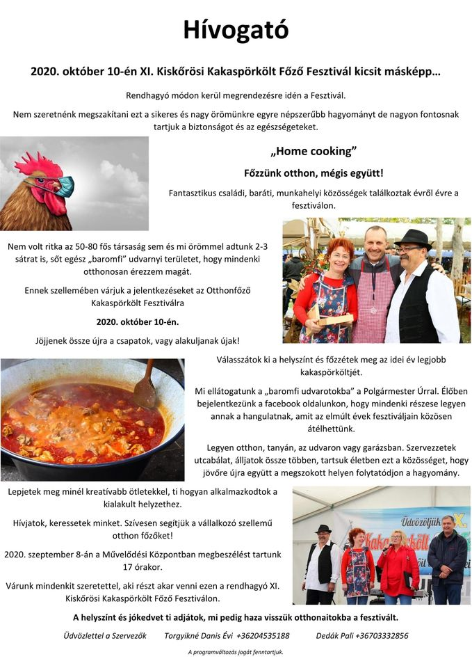 XI. Kiskőrösi Kakaspörkölt Főző Fesztivál